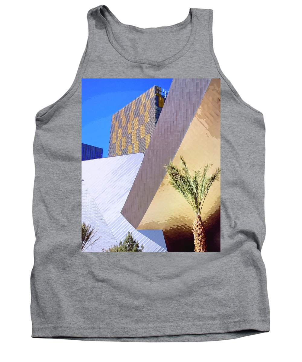 Intersection Tank Top featuring the photograph Intersection Number One Las Vegas by William Dey