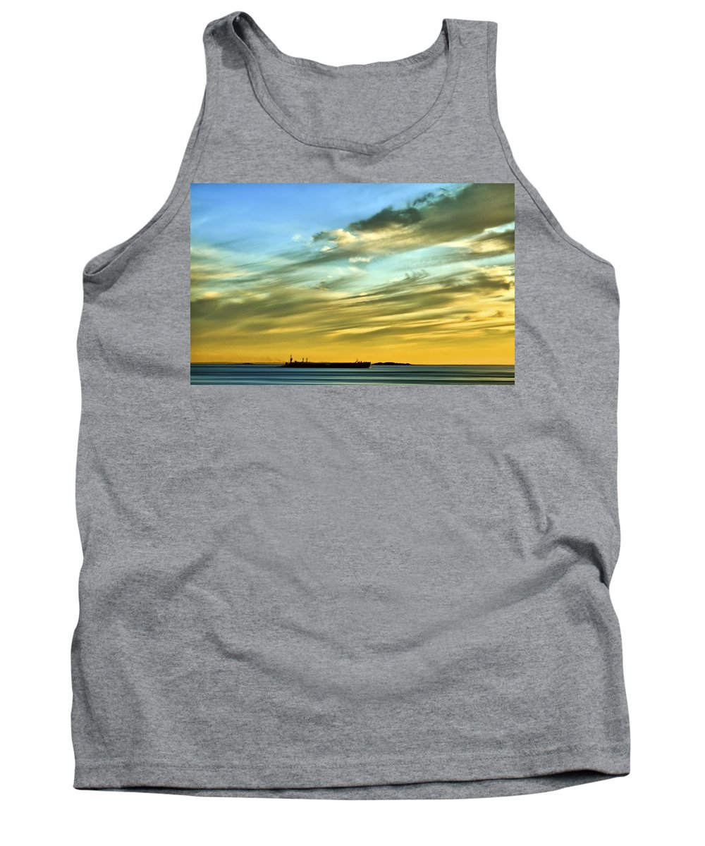 Sunset Tank Top featuring the photograph Into The Sunset by Evelina Kremsdorf