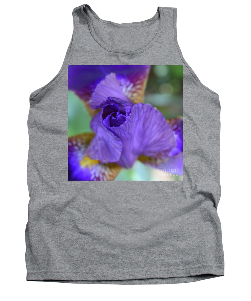 Tank Top featuring the photograph Iris Square by Carol Groenen