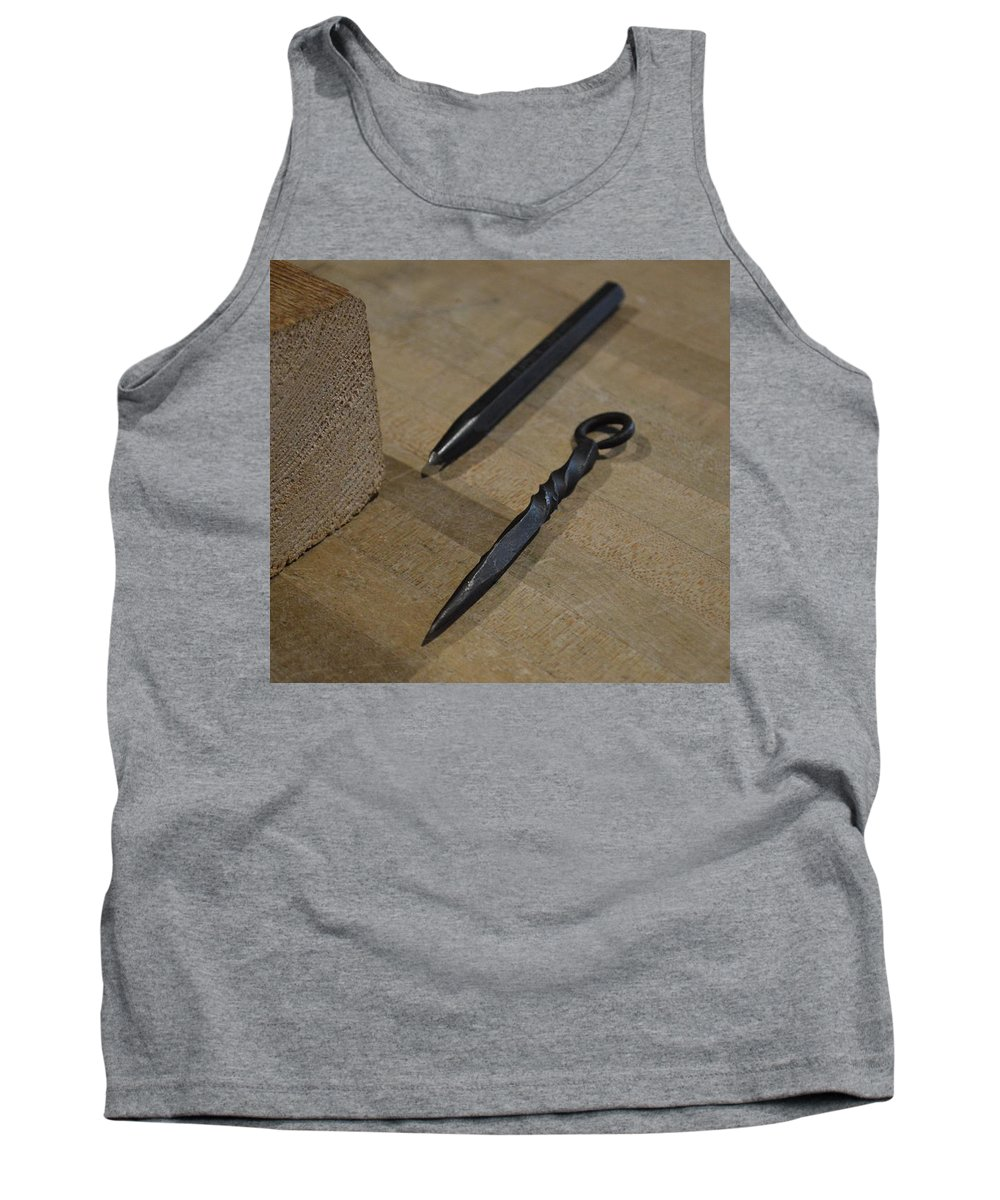 Iron Tank Top featuring the photograph Iron And Wood by Jacki Tatsch
