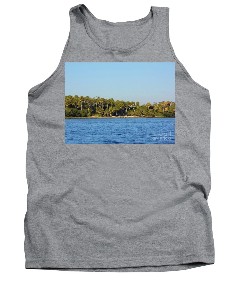 Island Tank Top featuring the photograph Island Off Of Cedar Key by D Hackett