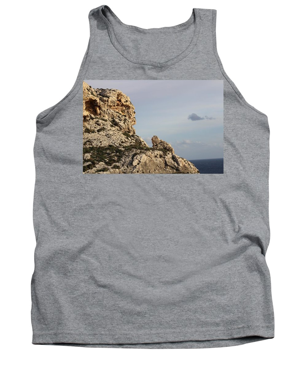 Rocks Tank Top featuring the photograph Italian Mountainside Meets The Ocean by Francesco Gonnella