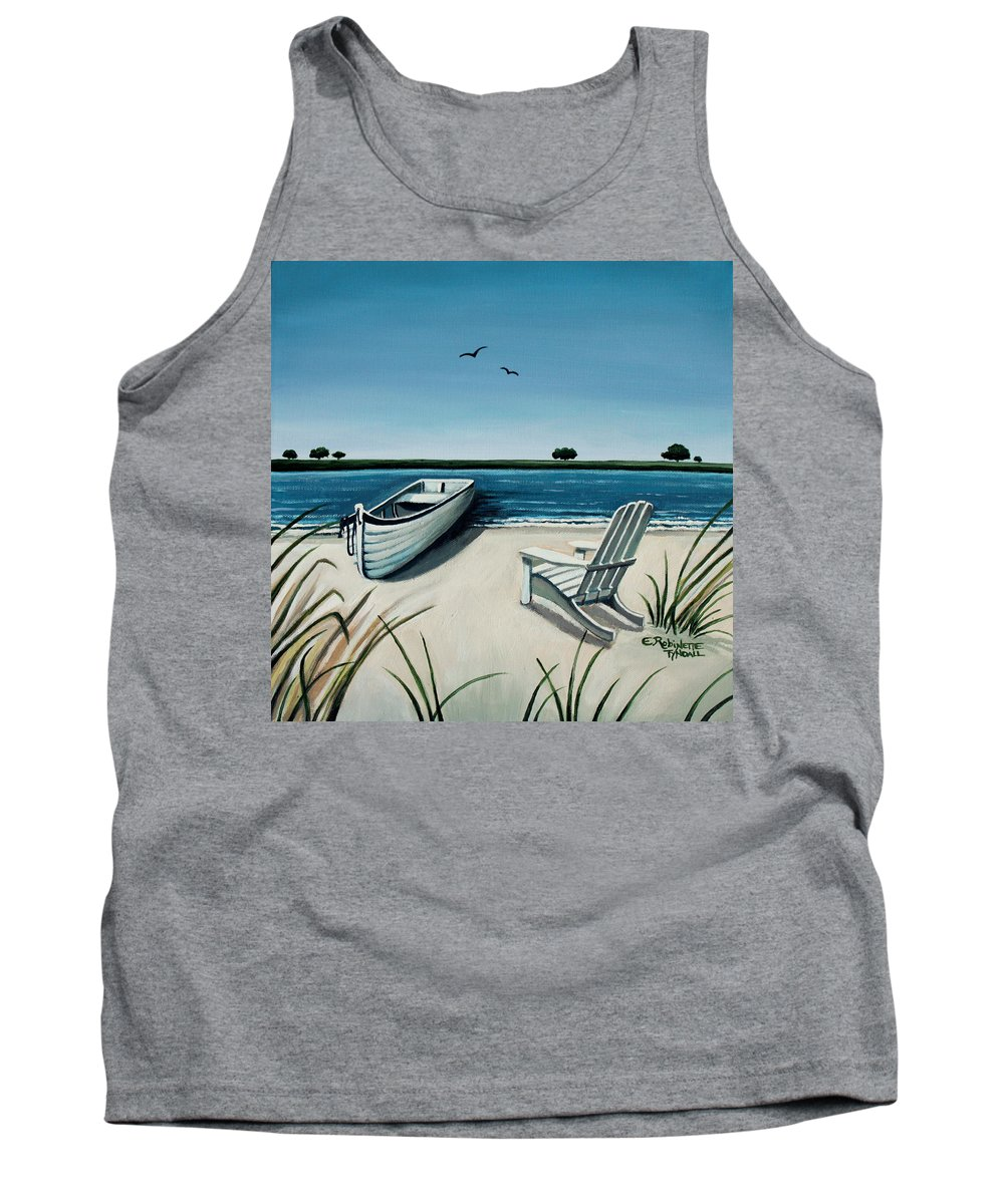 Beach Tank Top featuring the painting Its Summertime by Elizabeth Robinette Tyndall