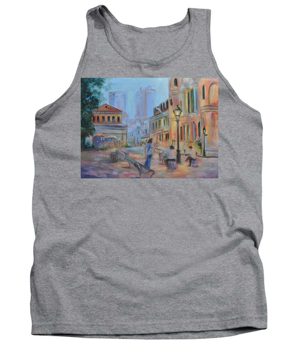 New Orleans Tank Top featuring the painting Jackson Square Musicians by Ginger Concepcion