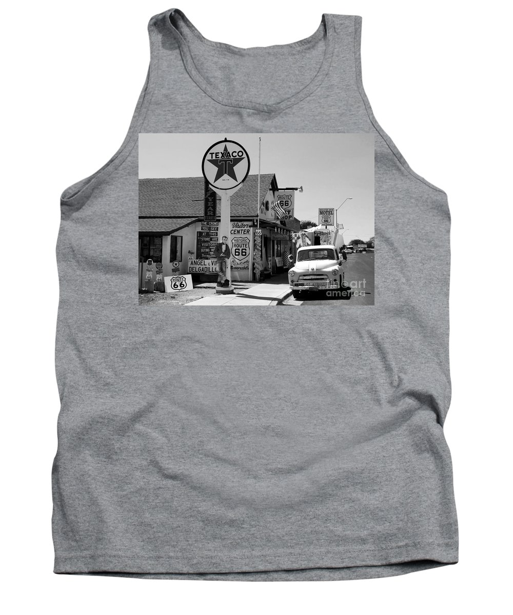 James Dean Tank Top featuring the photograph James Dean On Route 66 by David Lee Thompson