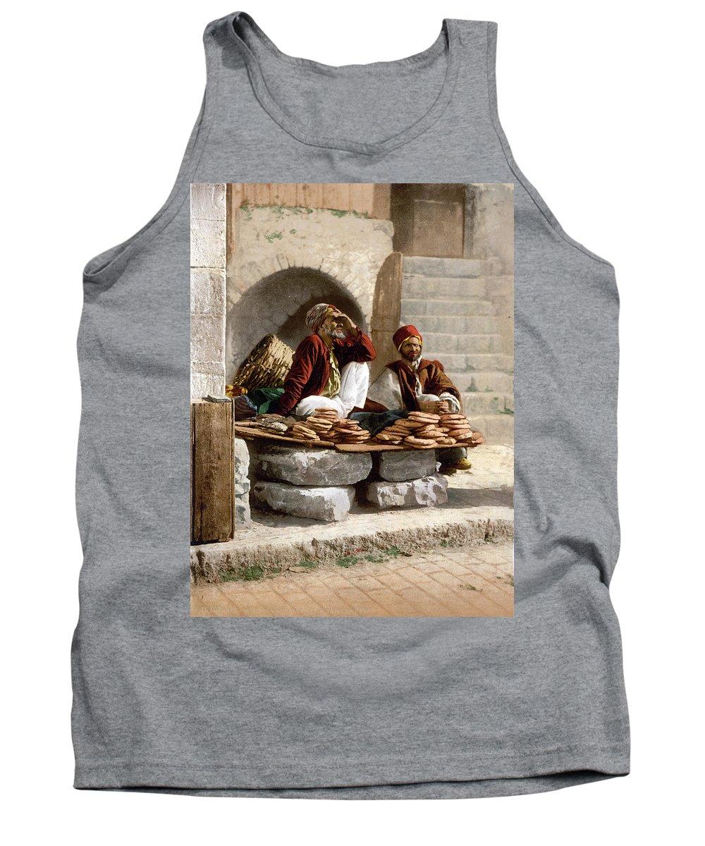 Jerusalem Tank Top featuring the photograph Jerusalem - Bread Seller by Munir Alawi