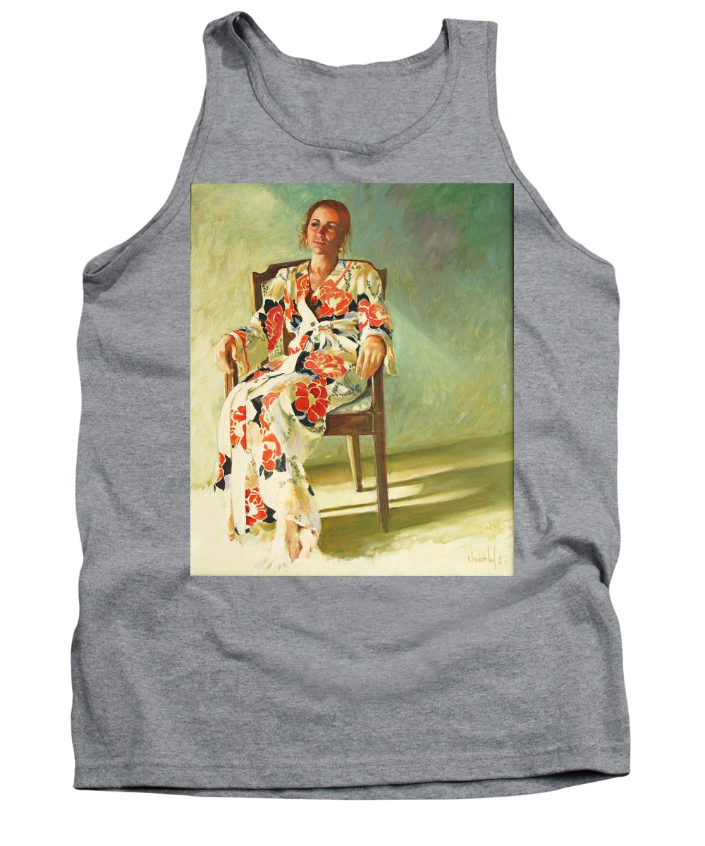 Girl Tank Top featuring the painting Jess by Rick Nederlof