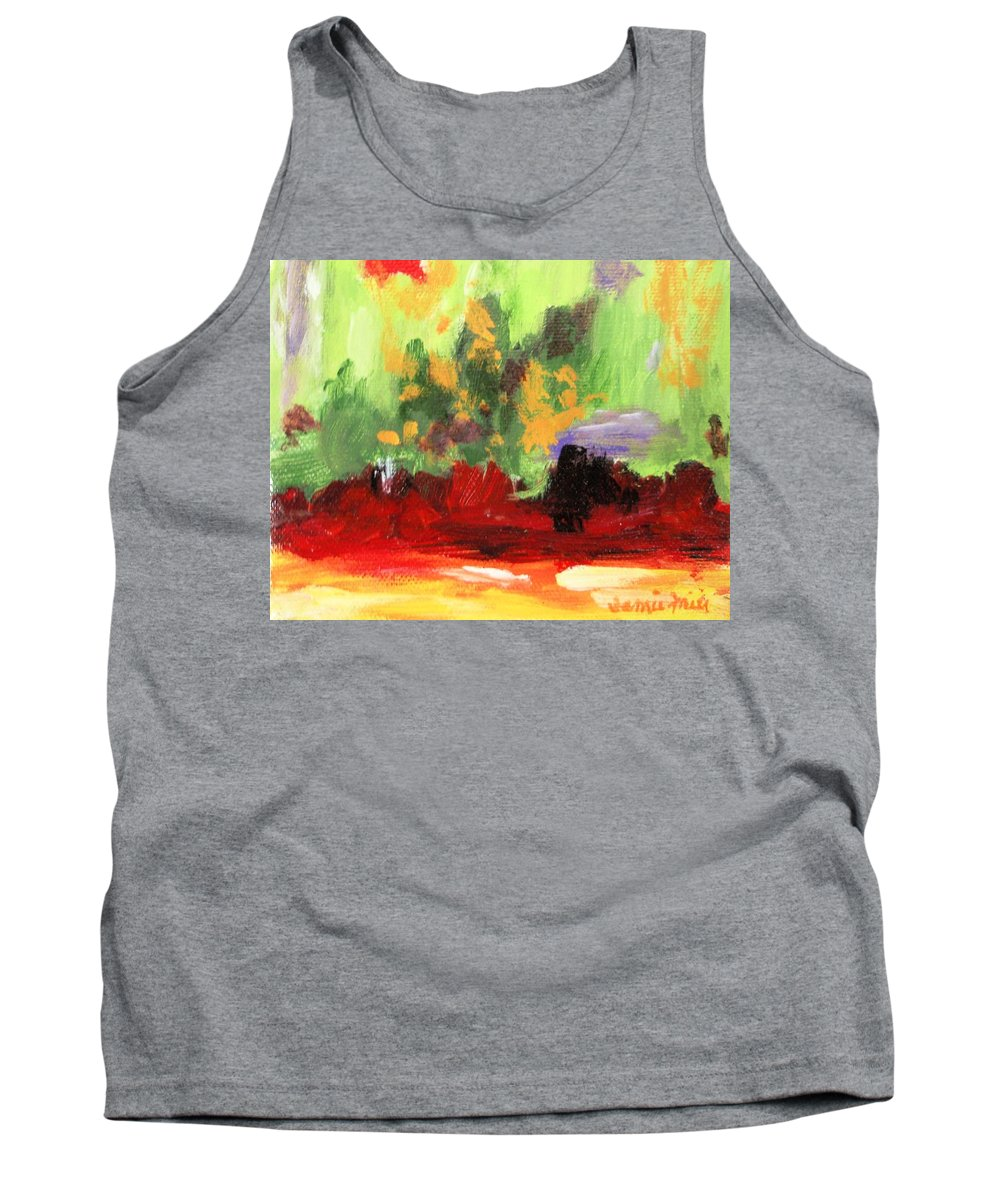 Abstract Tank Top featuring the painting Jill's Abstract by Jamie Frier