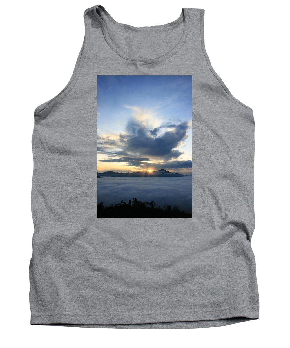 Borneo Tank Top featuring the photograph Jungle Sunrise by Andrew Parker