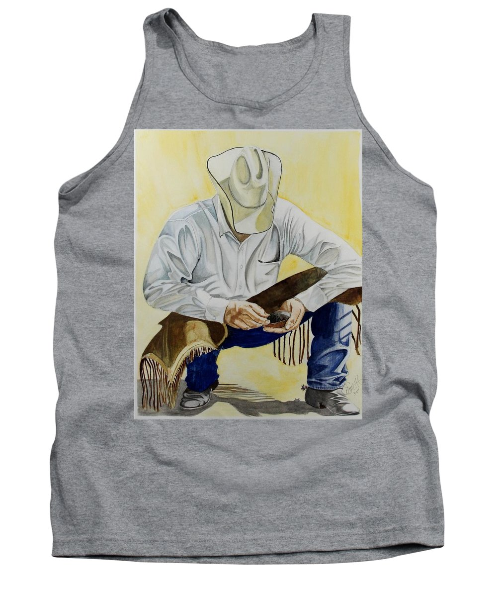 Boots Tank Top featuring the painting Just A Pinch by Jimmy Smith