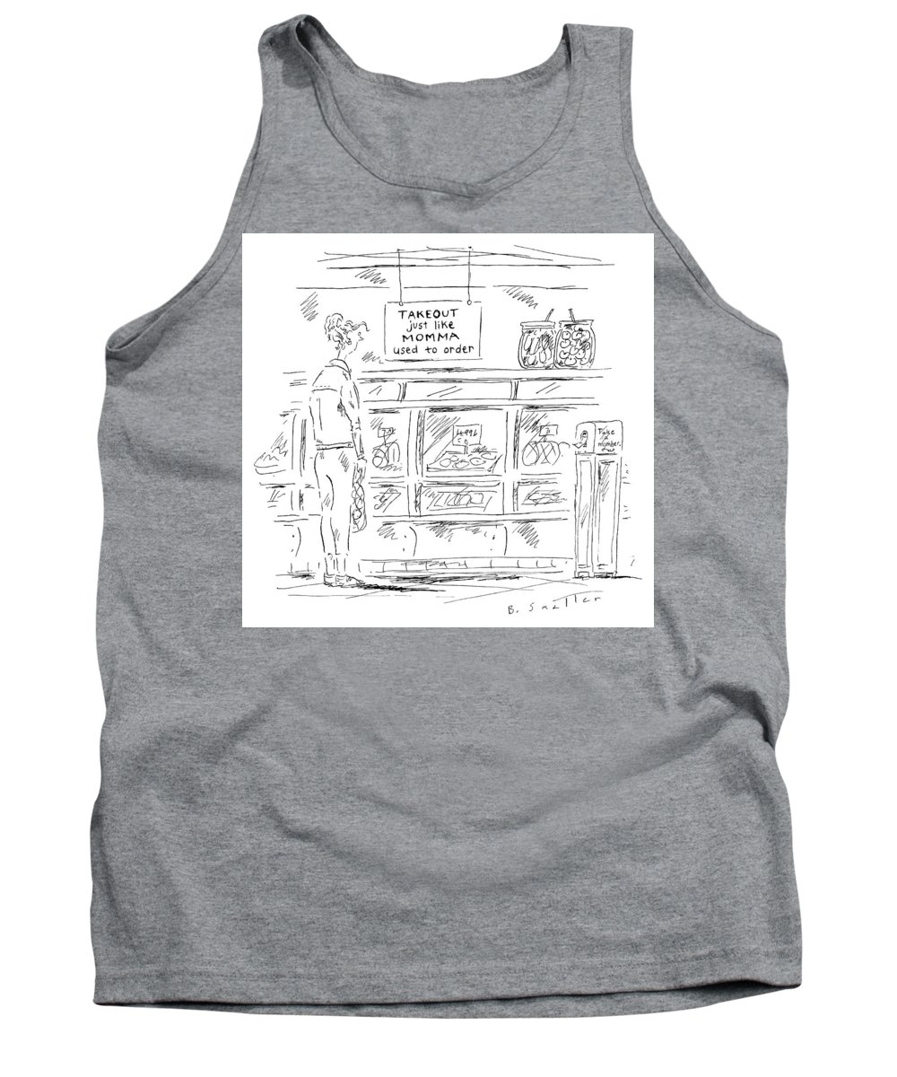 Take Out Just Like Momma Used To Order Tank Top featuring the drawing Just Like Momma Used To Order by Barbara Smaller