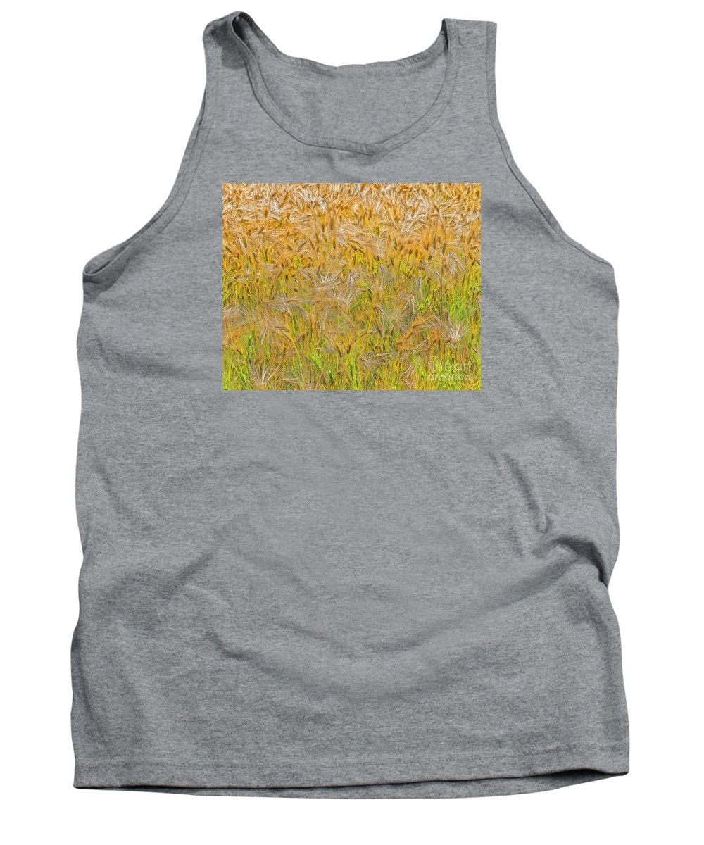 Abstract Tank Top featuring the photograph Just Wheat by Timothy Flanigan and Debbie Flanigan Nature Exposure
