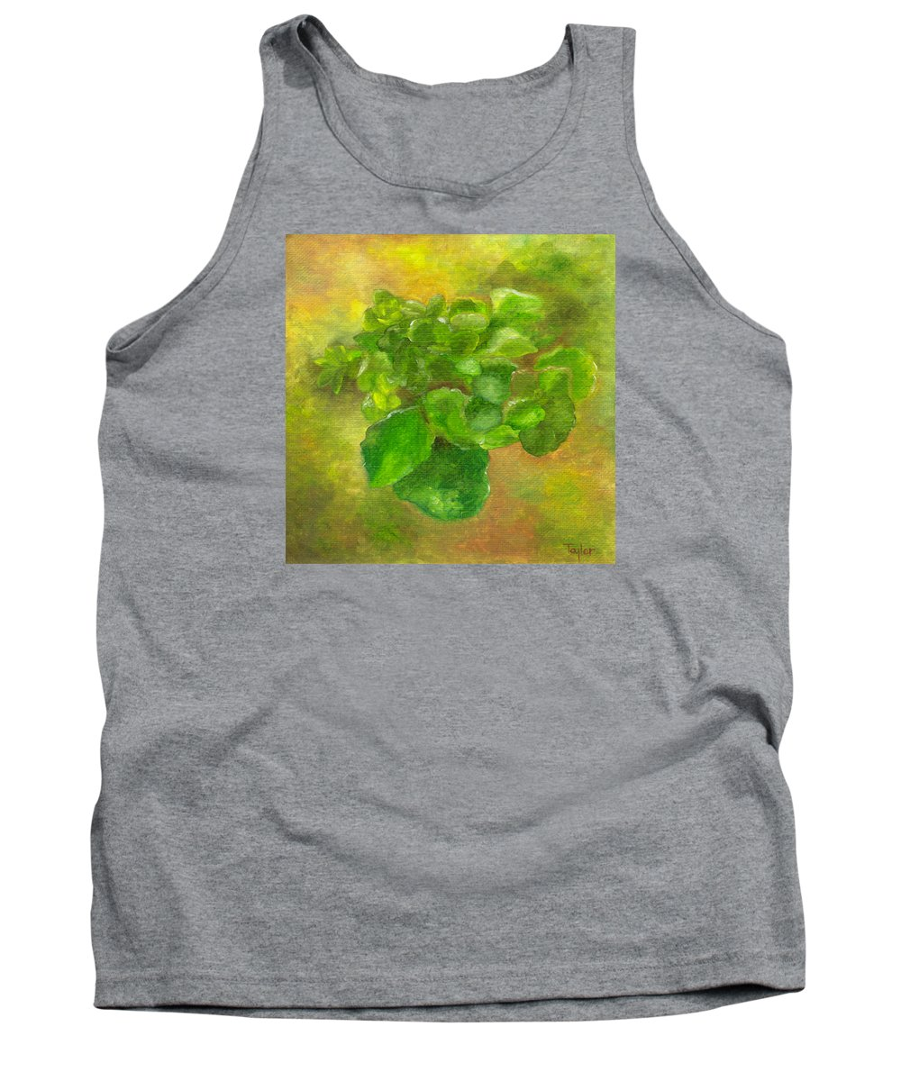 Flowers Tank Top featuring the painting Kalanchoe by FT McKinstry