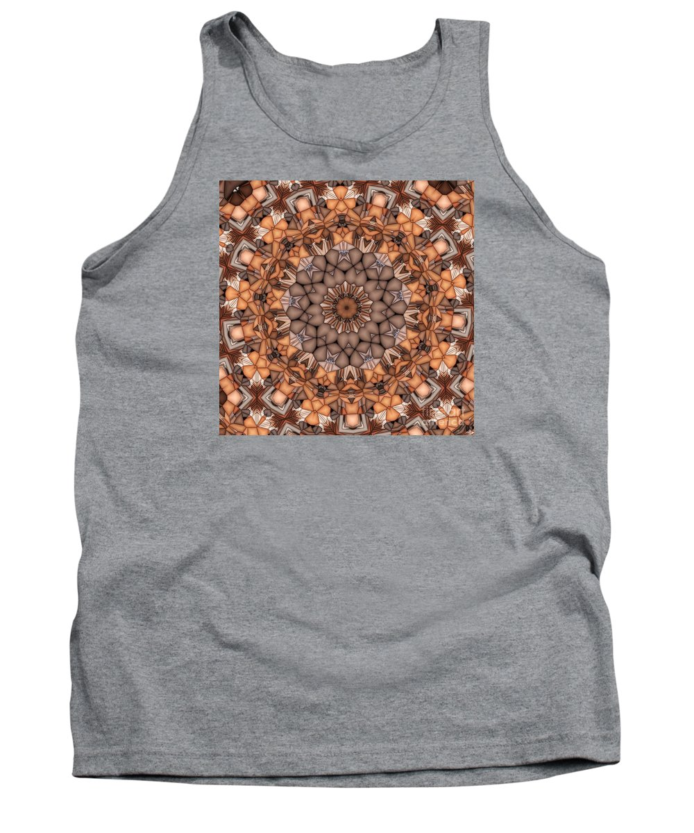 Kaleidoscope Tank Top featuring the digital art Kaleidoscope 121 by Ron Bissett