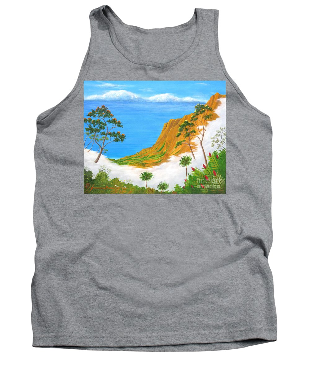 Landscape Tank Top featuring the painting Kauai Hawaii by Jerome Stumphauzer