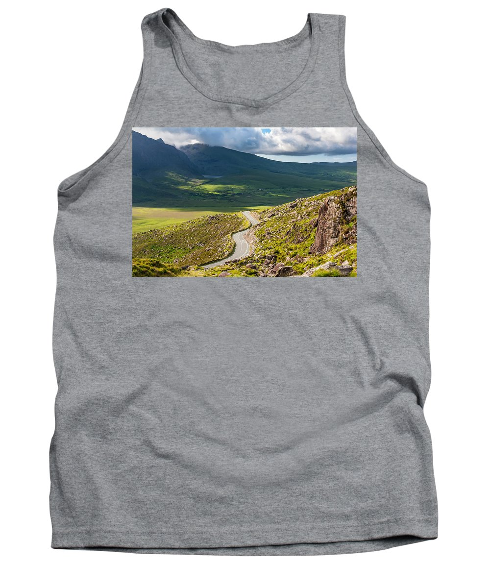 Kerry Tank Top featuring the photograph Kerry Mountain Pass Ireland by Pierre Leclerc Photography