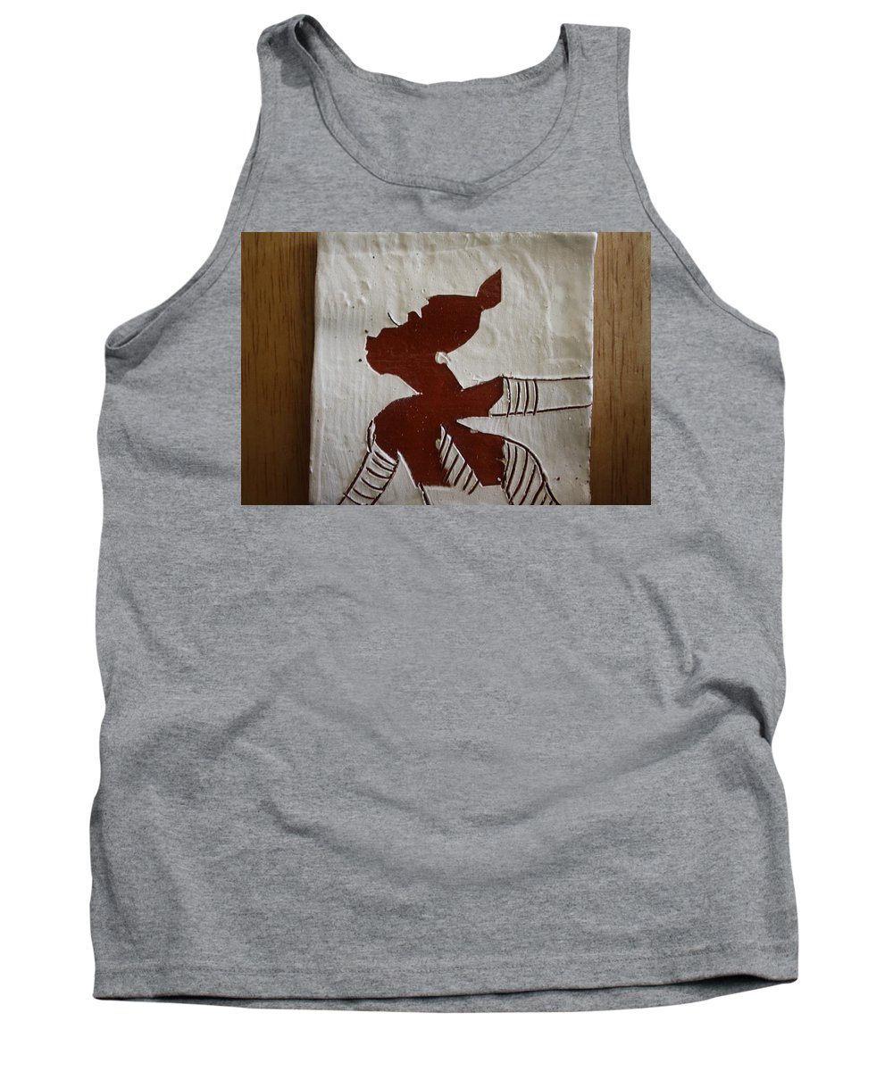 Jesus Tank Top featuring the ceramic art Kiss - Tile by Gloria Ssali