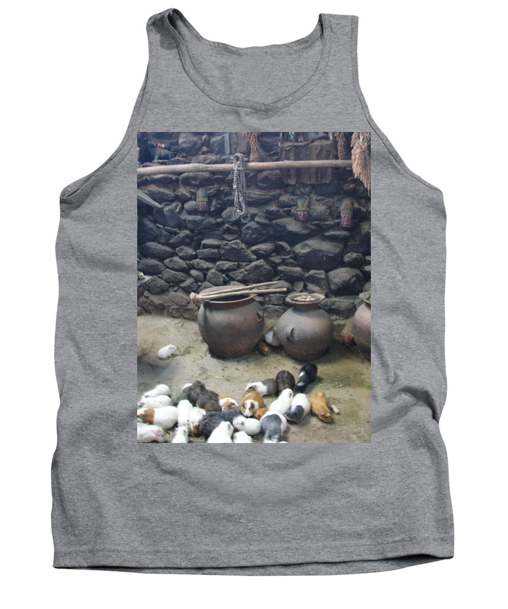 Interior Tank Top featuring the photograph Kitchen Livestock by Sandra Bourret