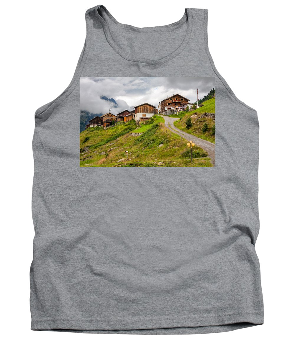 Alp Meadow Tank Top featuring the photograph Kleblealm by Ludwig Riml