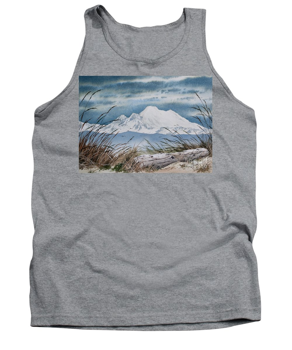 Landscape Fine Art Print Tank Top featuring the painting Koma Kulshan by James Williamson