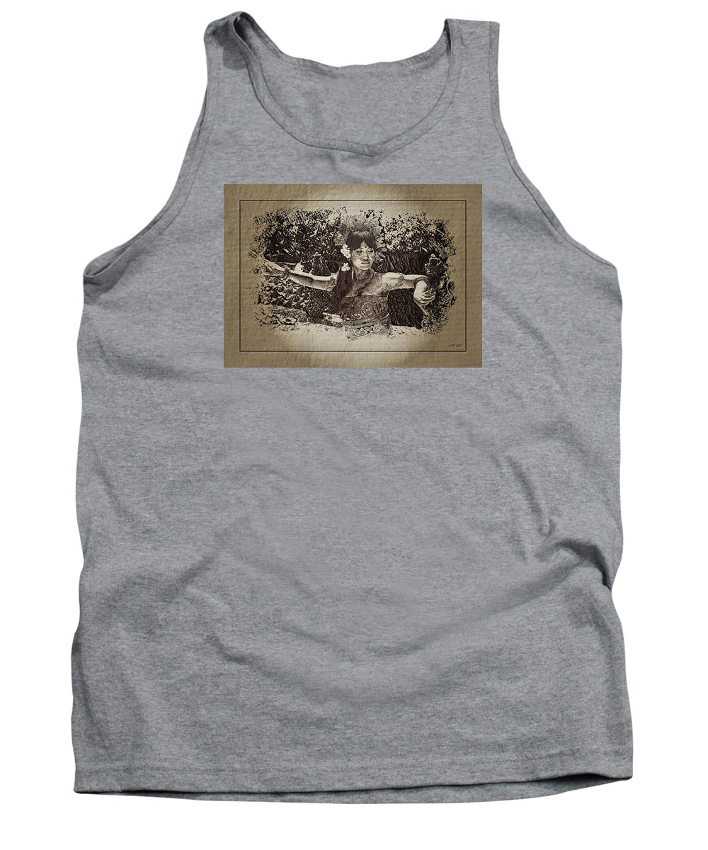 Bali Women Tank Top featuring the photograph Dance,indonesian Women by JeanFrancois Gil