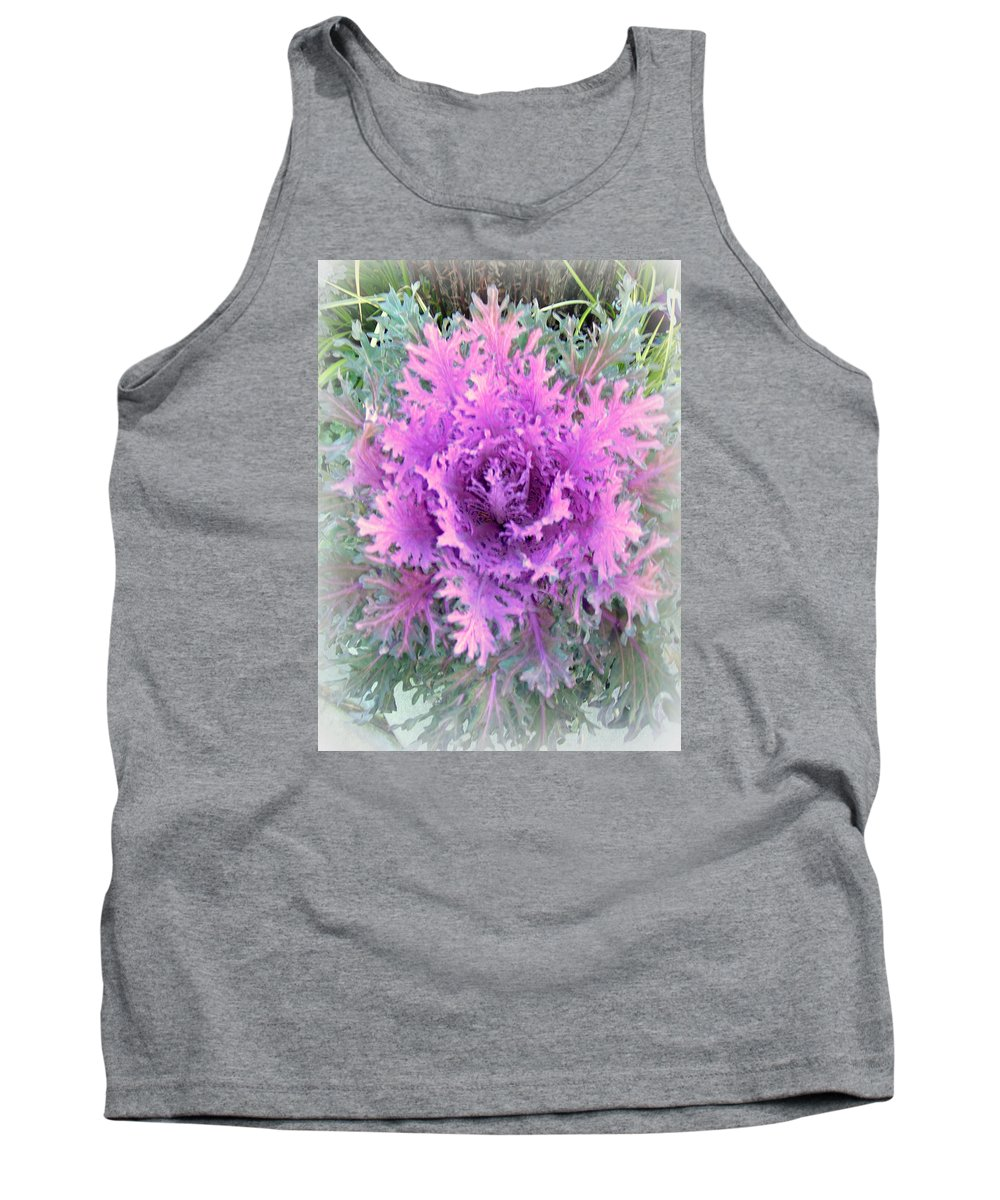 Purple Tank Top featuring the photograph Lacey Plant by Maro Kentros