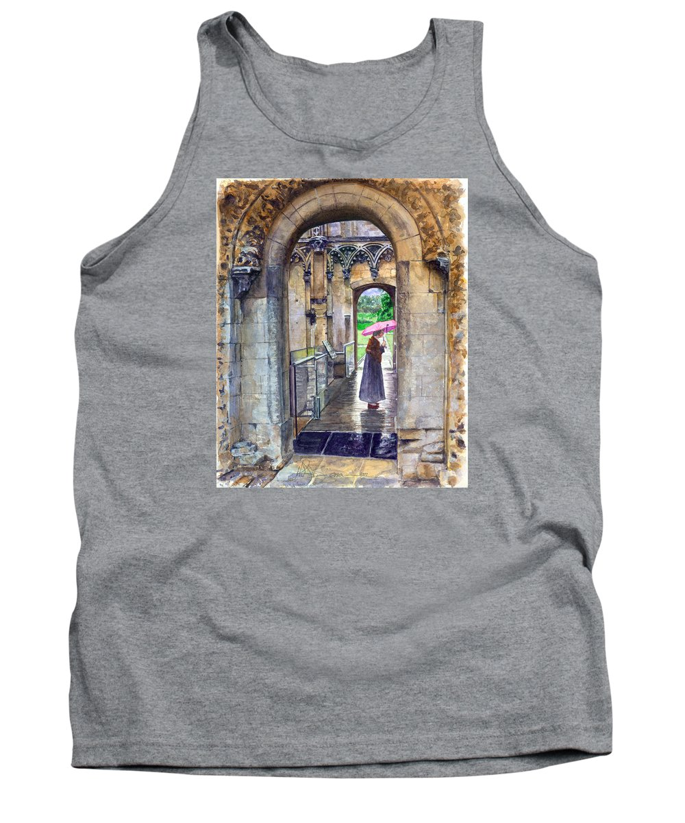Glastonbury Tank Top featuring the painting Lady Chapel by John D Benson