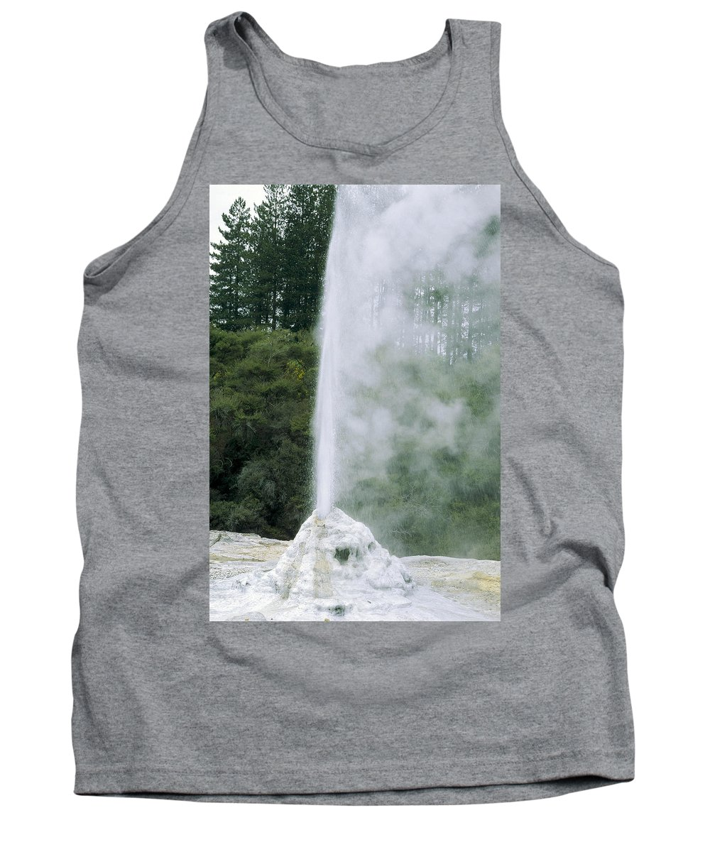 00194215 Tank Top featuring the photograph Lady Knox Geyser Erupting by Konrad Wothe