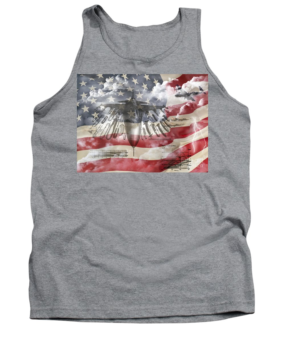 U.s. Military Tank Top featuring the photograph Laid Out by Ken Frischkorn