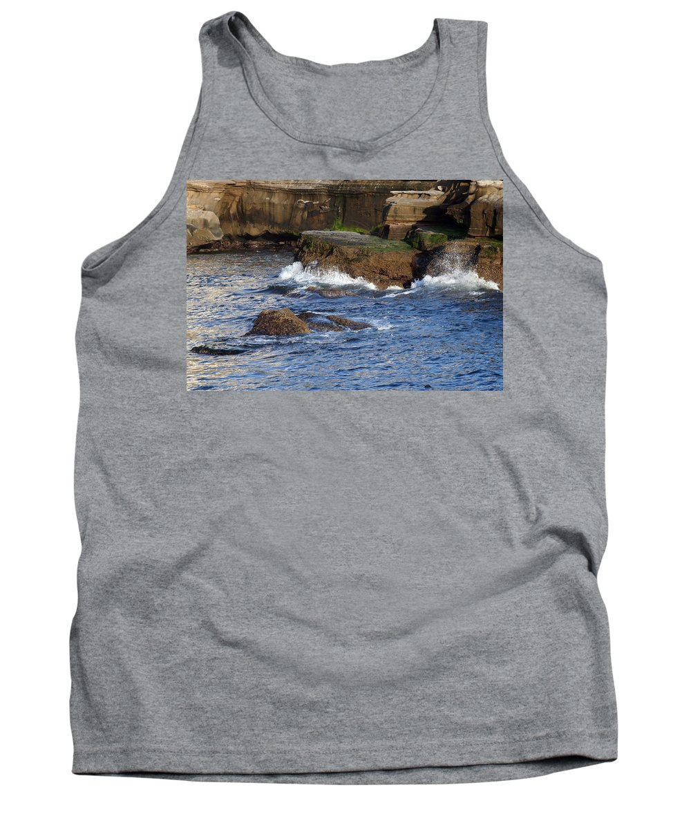 Ocean Tank Top featuring the photograph Lajolla Rocks by Margie Wildblood