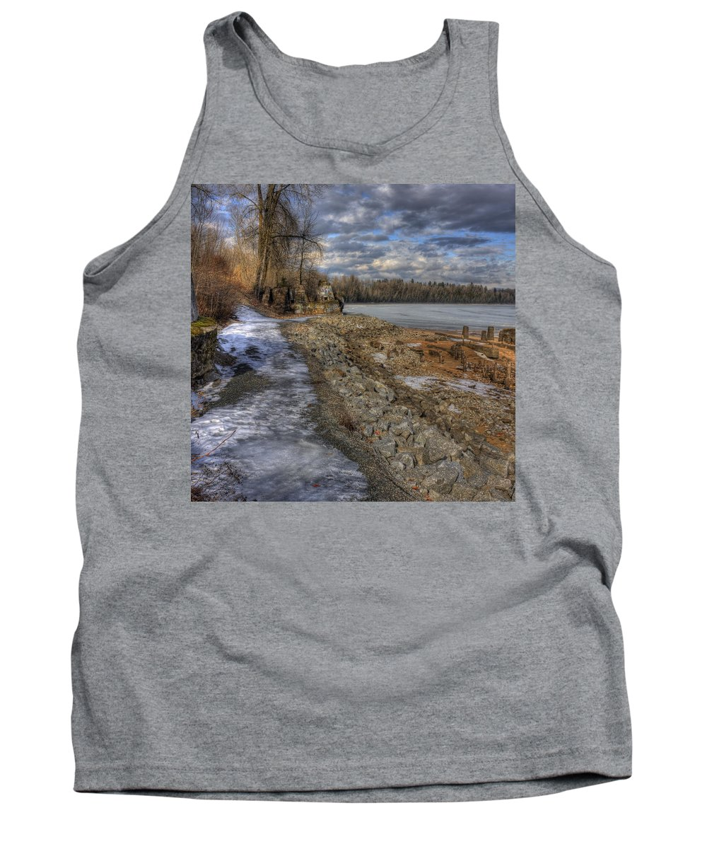 Landscape Tank Top featuring the photograph Lake Pend D'oreille At Humbird Ruins by Lee Santa