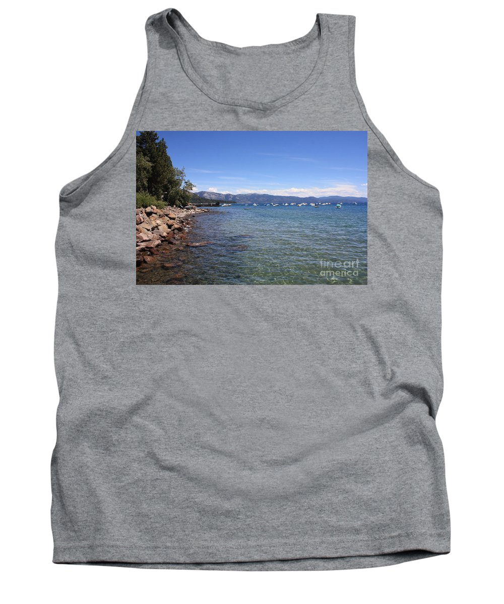 Lake Tahoe Tank Top featuring the photograph Lake Tahoe Waterscape by Carol Groenen