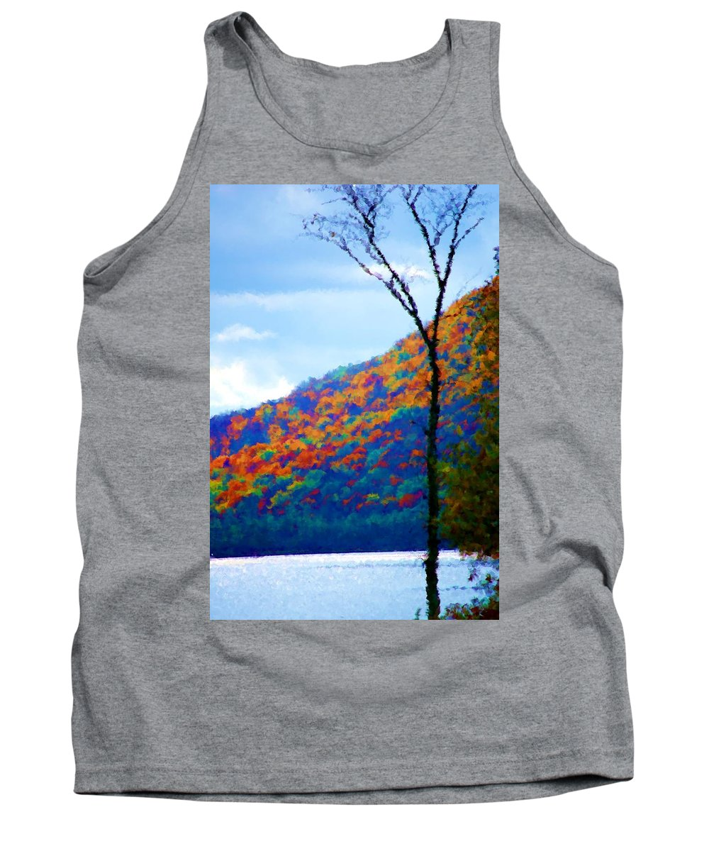 Digital Photograph Tank Top featuring the photograph Lakeside by David Lane
