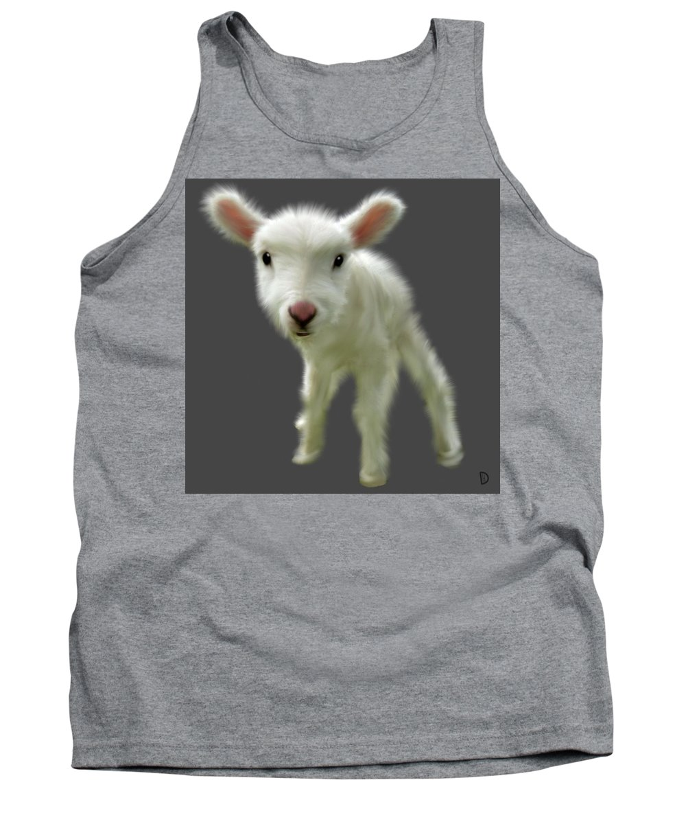 Lamb Tank Top featuring the painting Lamb Chop by Dave H