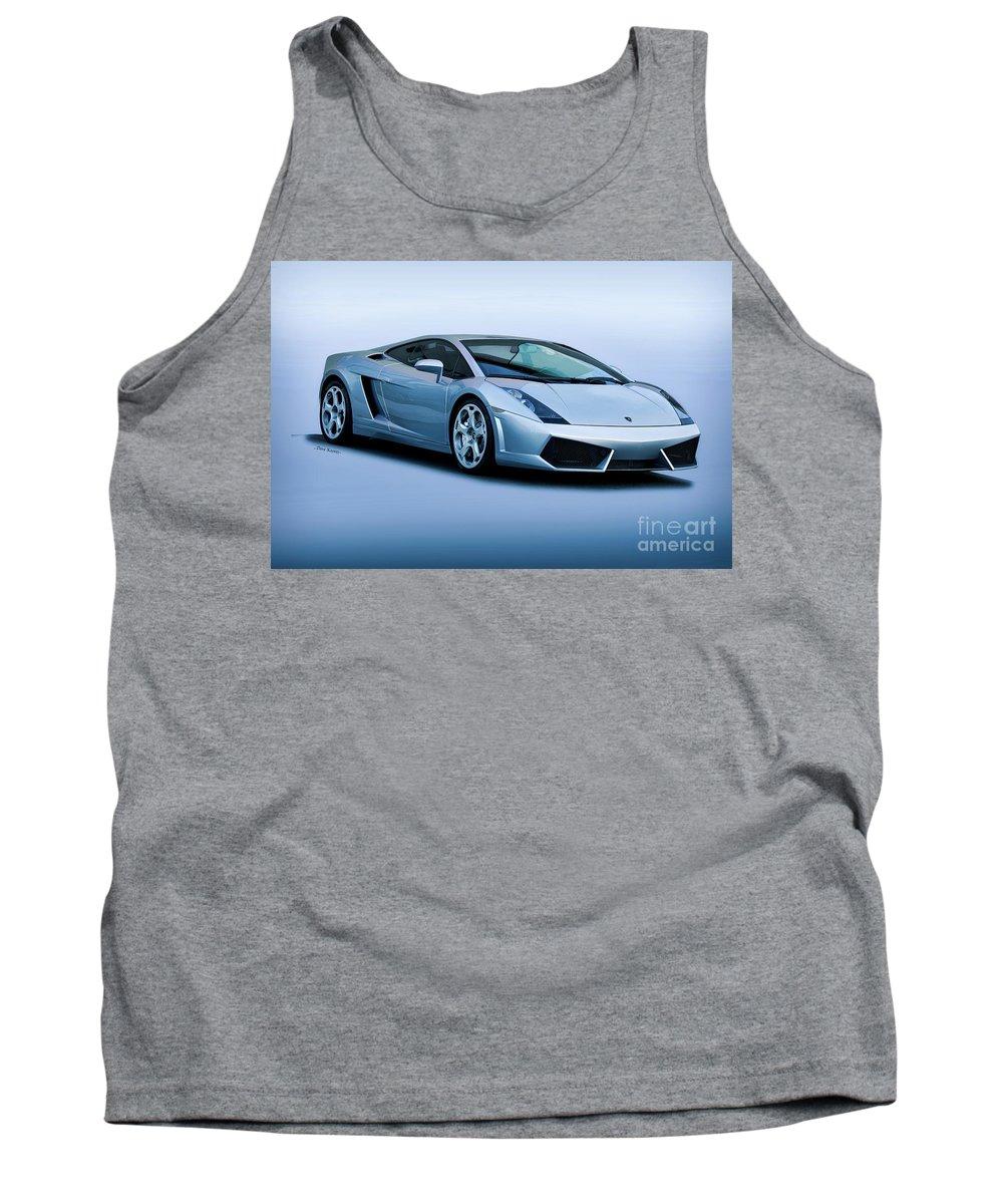 Auto Tank Top featuring the photograph Lamborghini Gallardo 'track Terror' I by Dave Koontz
