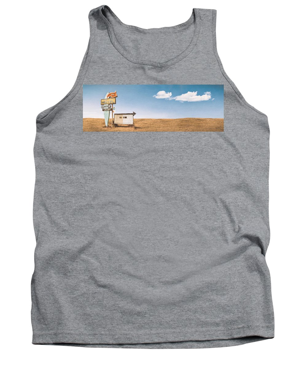 Scott Norris Photography Tank Top featuring the photograph Lamp-lite Motel by Scott Norris
