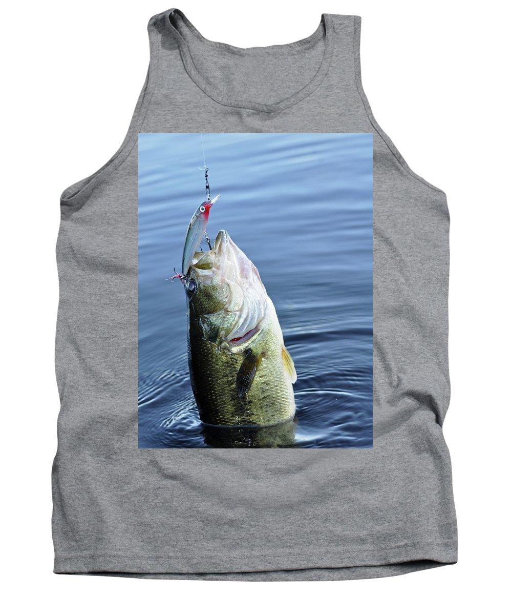 Bas Tank Top featuring the photograph Largemouth Bass by Glenn Gordon