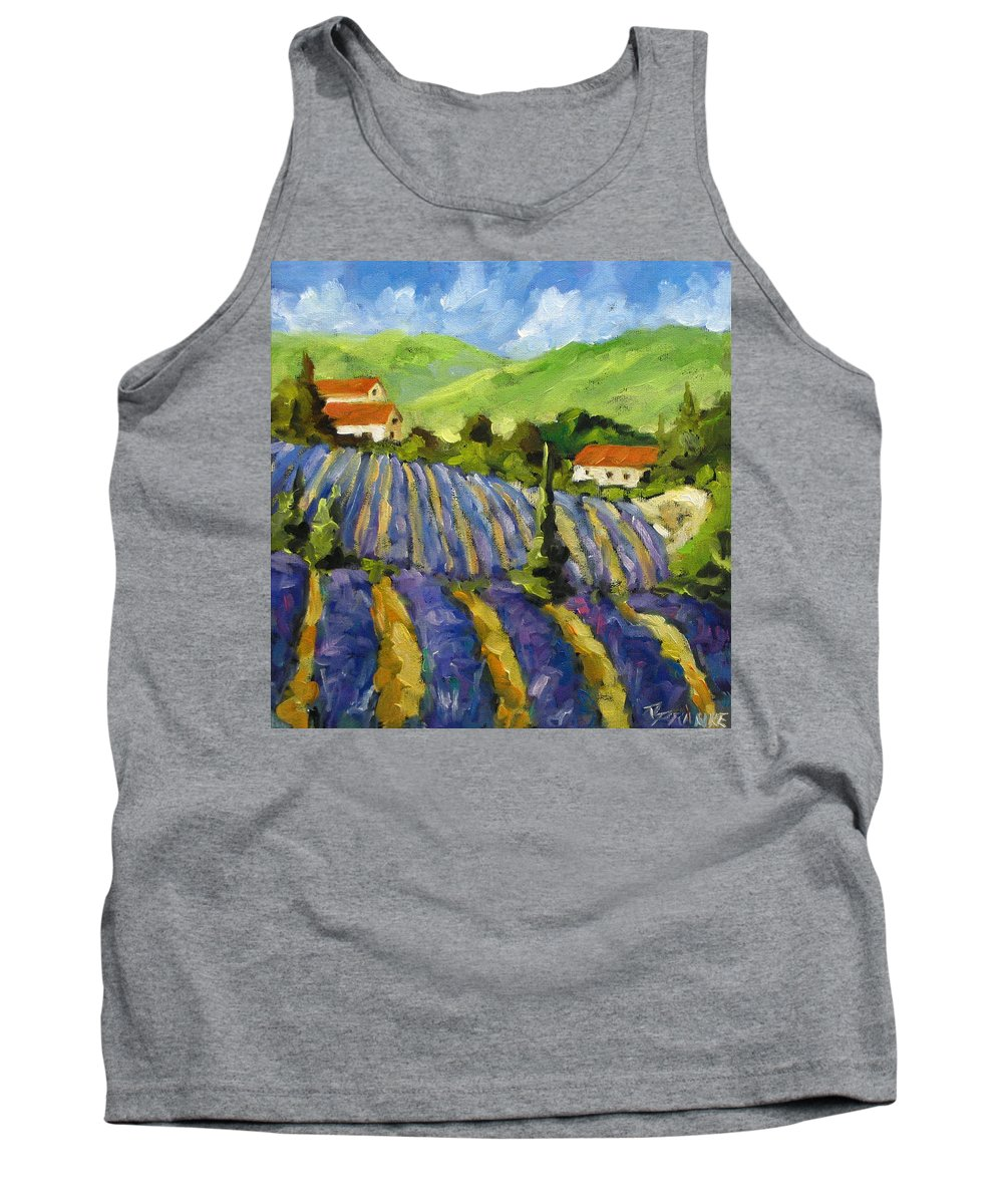 Art Tank Top featuring the painting Lavender Scene by Richard T Pranke