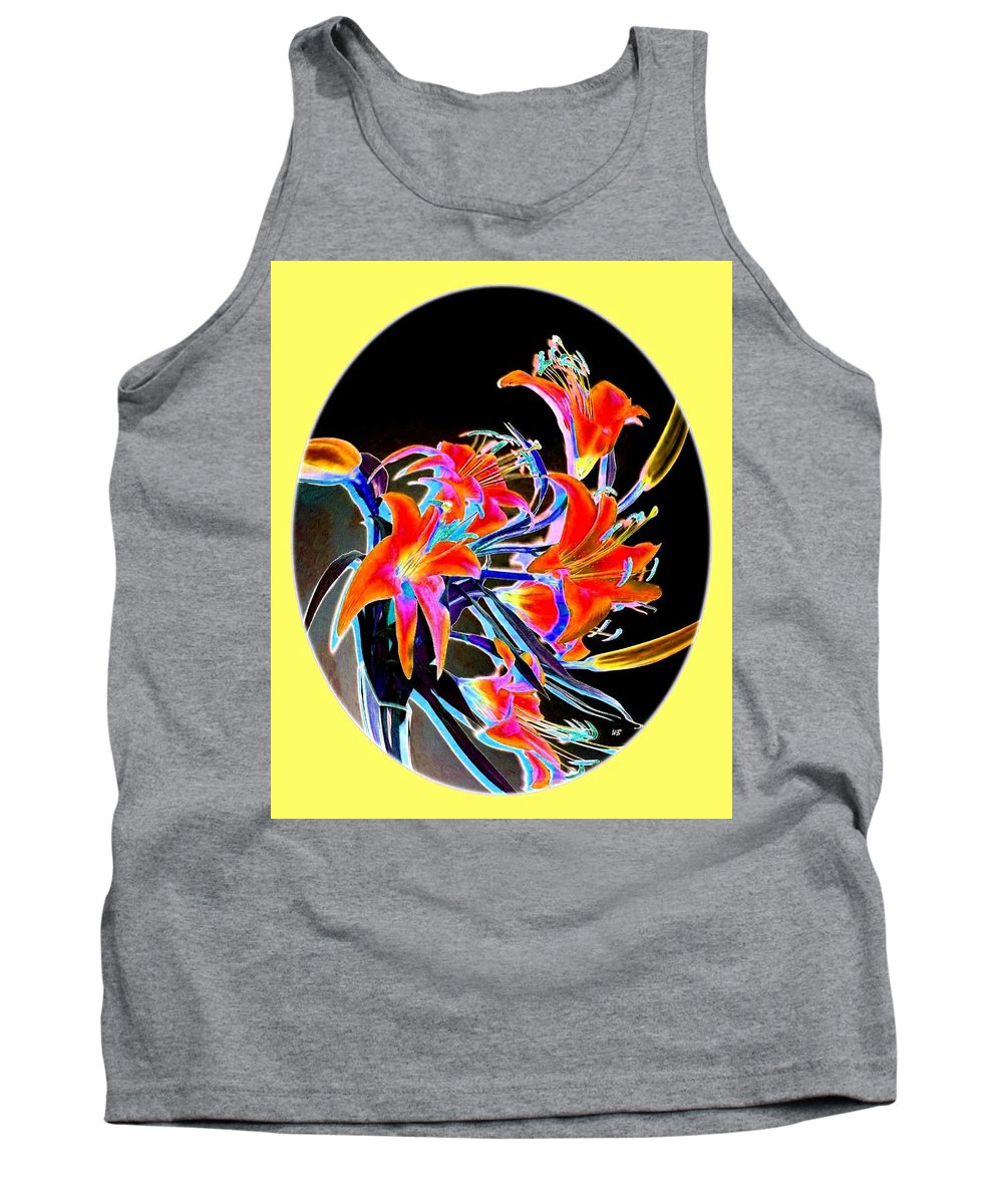 Lilies Tank Top featuring the digital art Lavish Lilies 2 by Will Borden