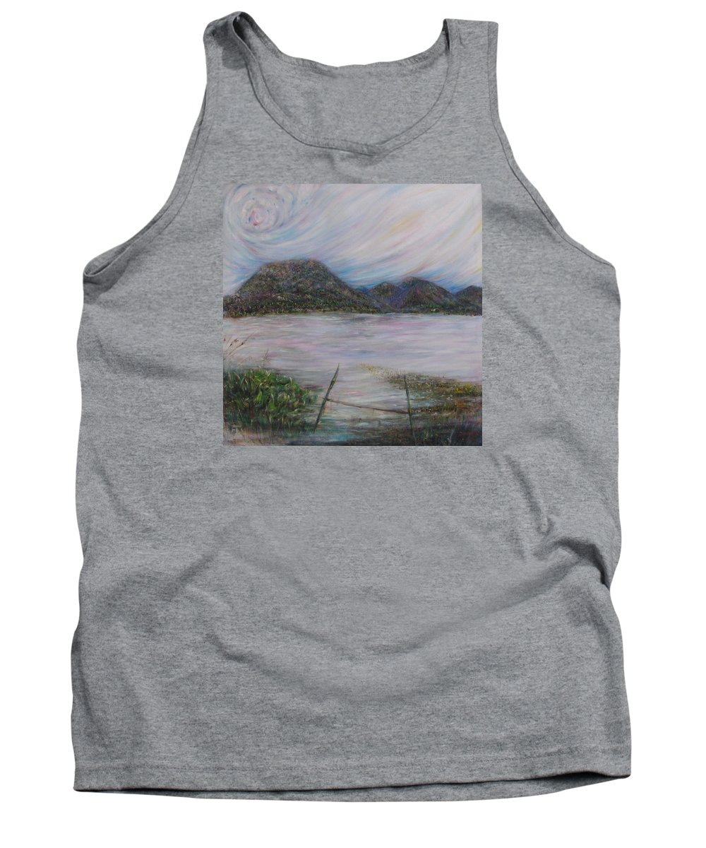 Thailand Tank Top featuring the painting Legend Of The Mountain by Sukalya Chearanantana