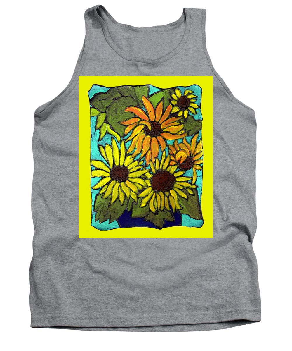 Yellow Tank Top featuring the painting Let The Sunshine In by Wayne Potrafka