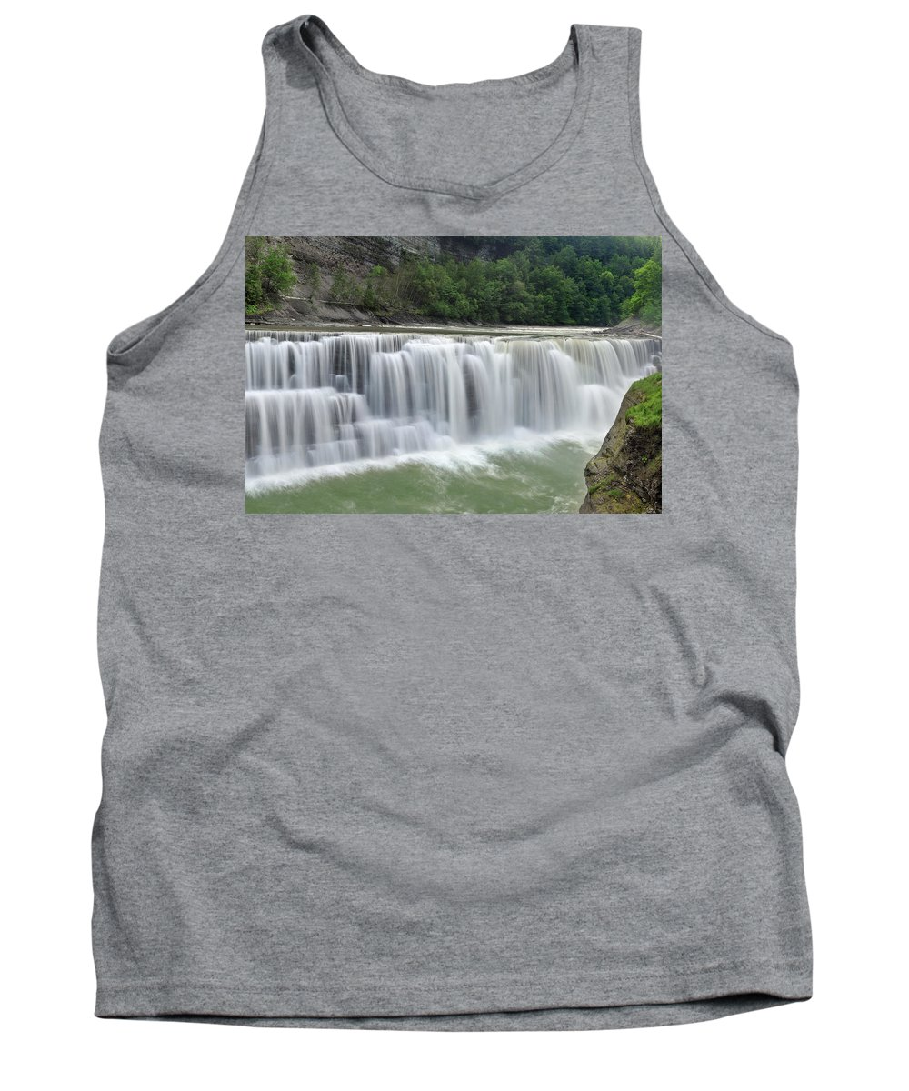 Letchworth Falls State Park Tank Top featuring the photograph Letchworth Falls Sp Lower Falls by Dean Hueber