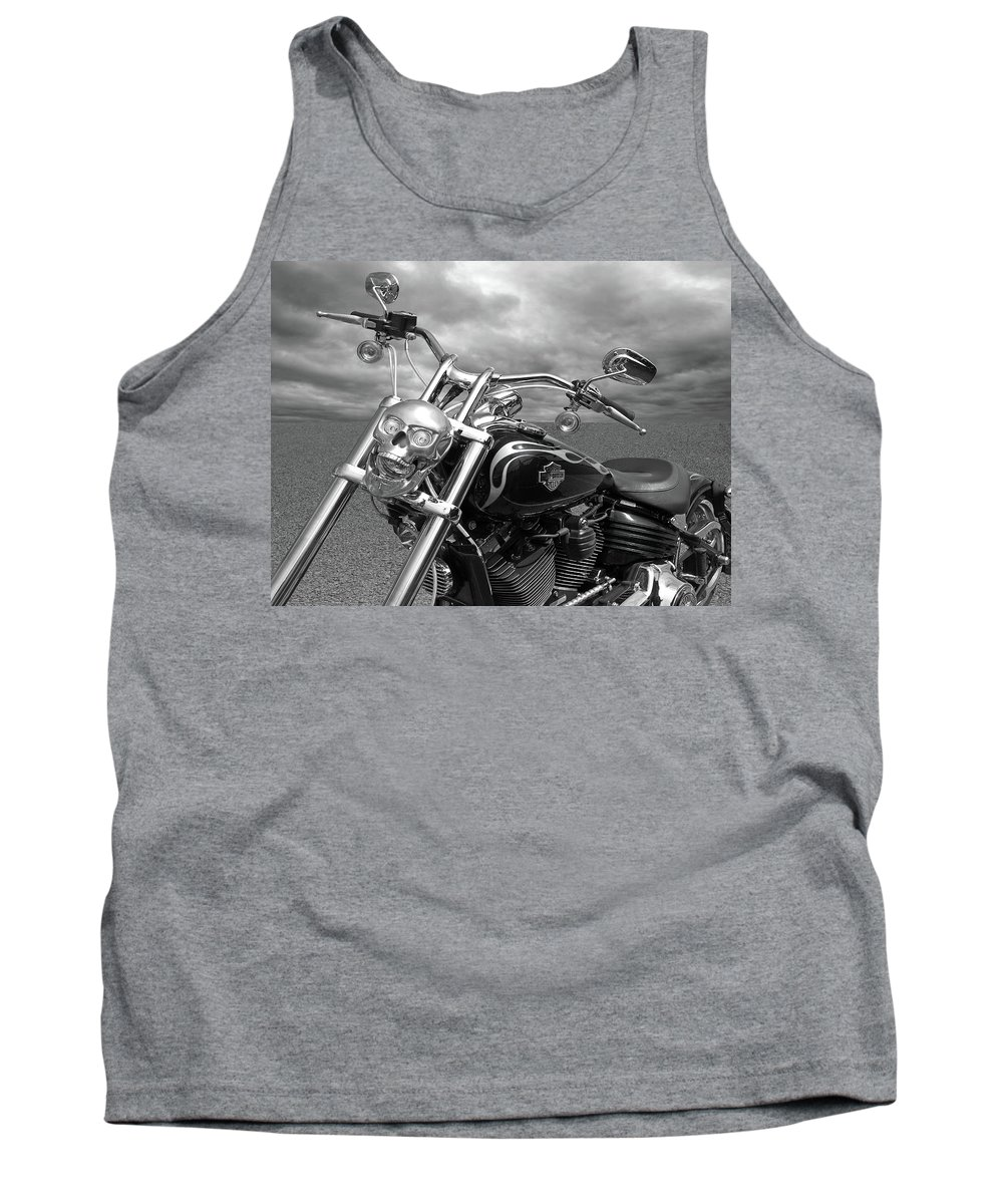 Harley Davidson Motorcycle Tank Top featuring the photograph Let's Ride - Harley Davidson Motorcycle by Gill Billington