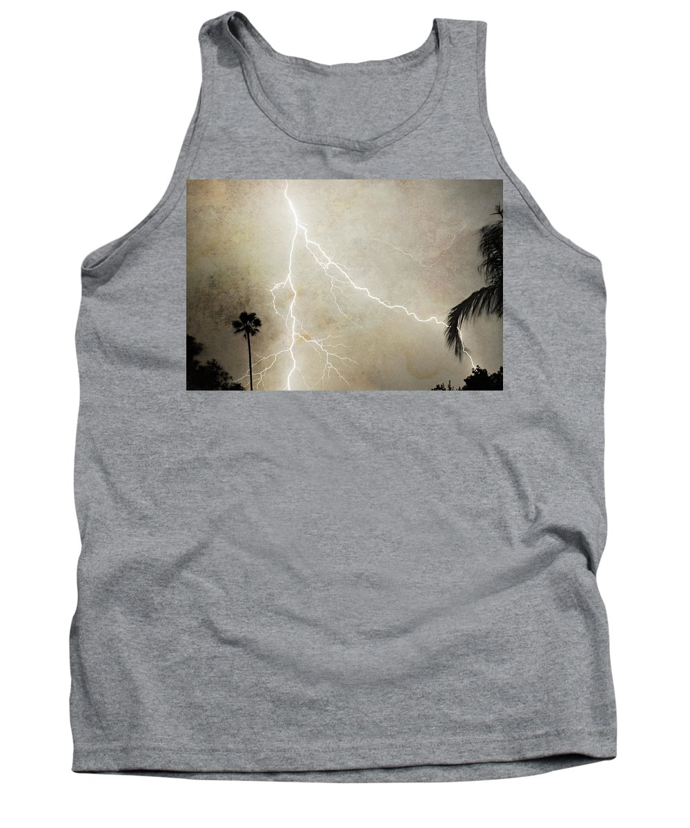 Lightning Tank Top featuring the photograph Let's Split by James BO Insogna