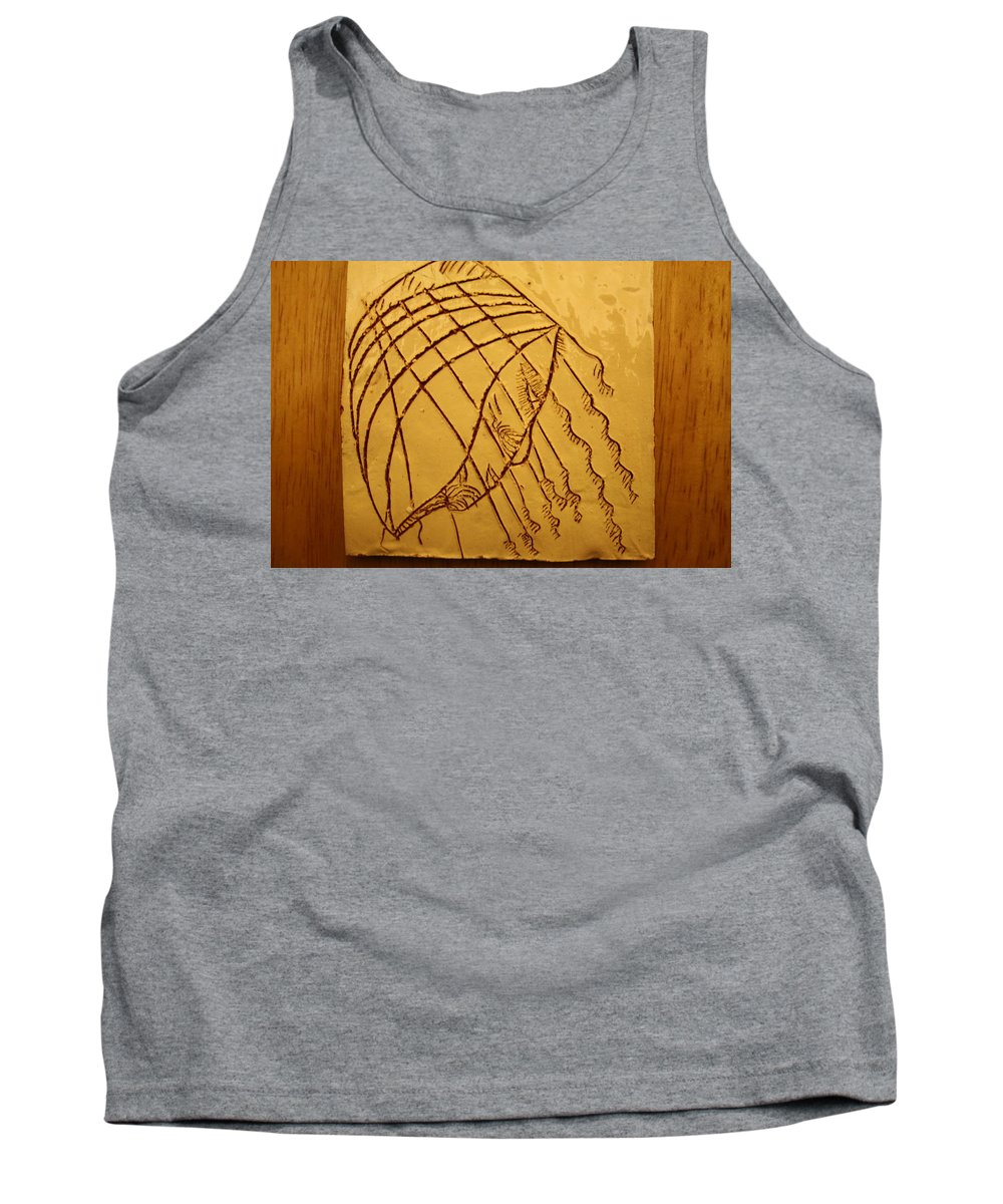 Jesus Tank Top featuring the ceramic art Levels - Tile by Gloria Ssali