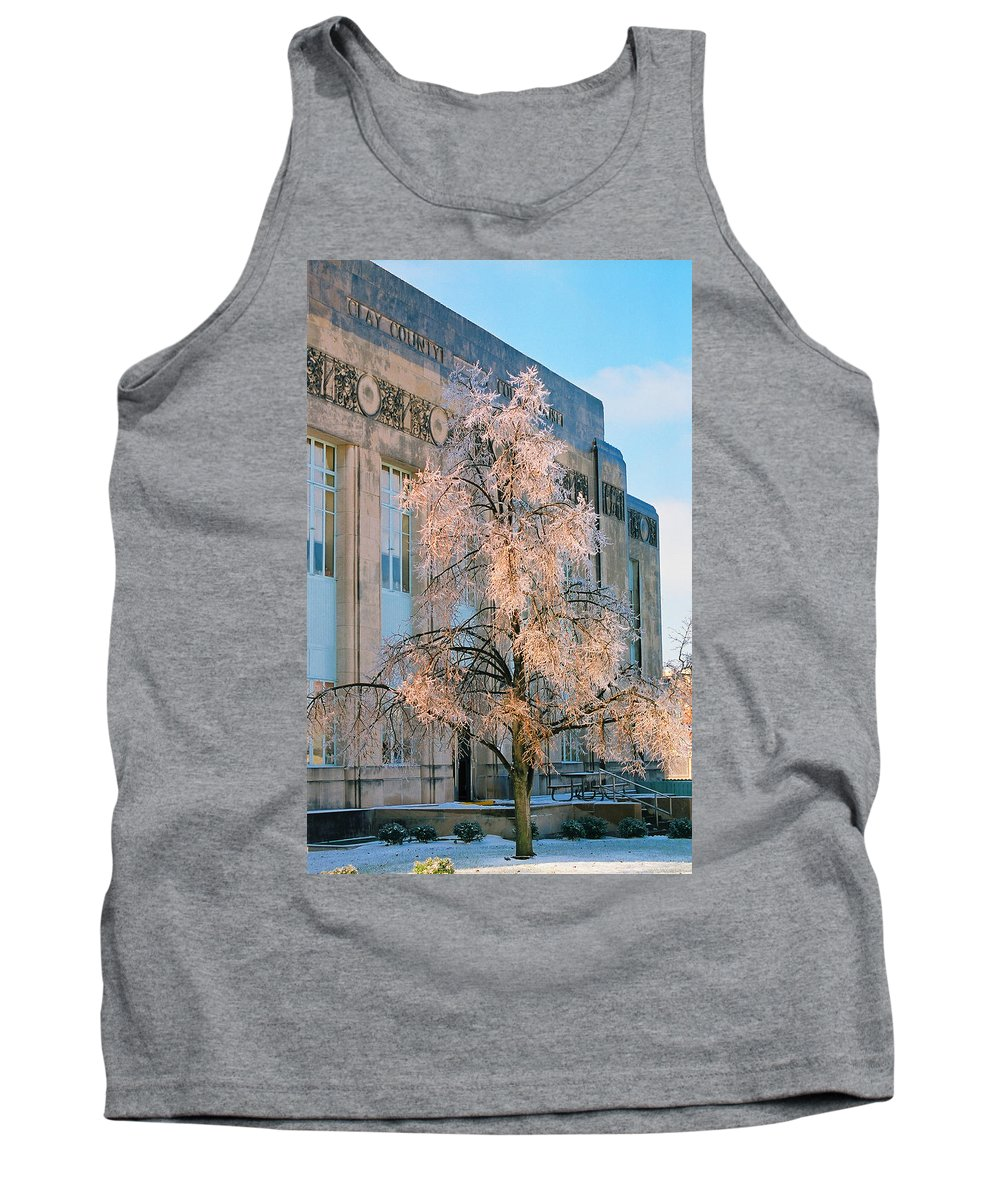 Architecture Tank Top featuring the photograph Liberty Court House by Steve Karol