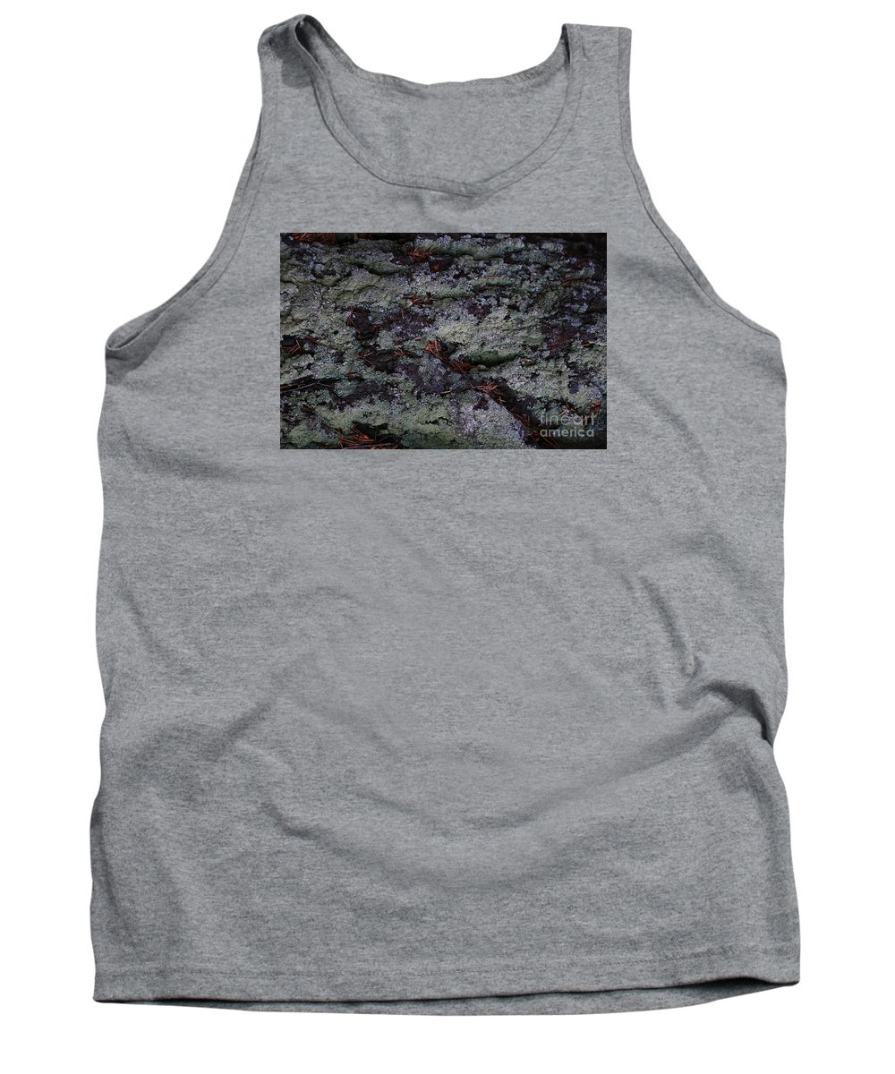 Lichen Tank Top featuring the photograph Lichen Texture by Nareeta Martin