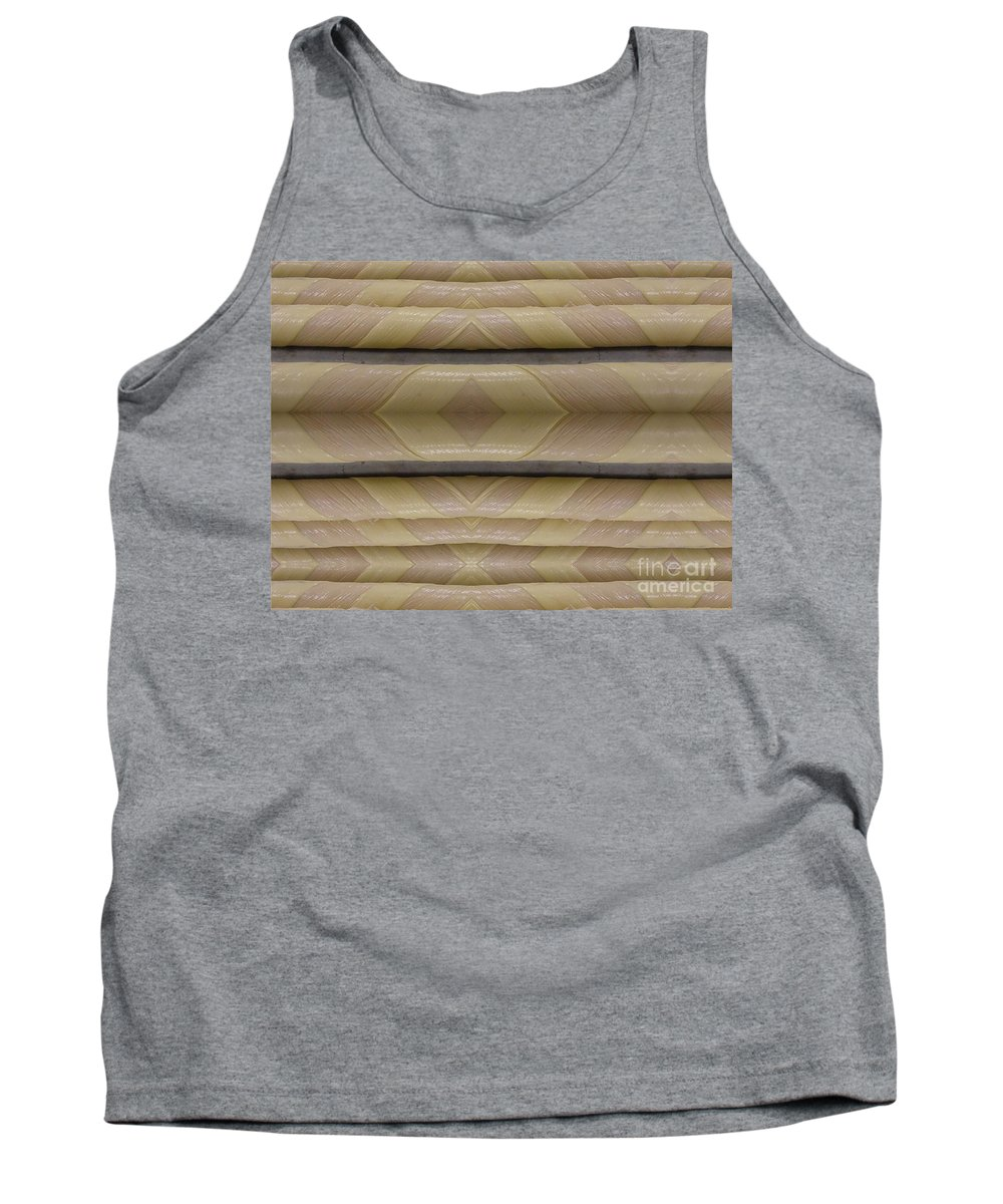 Abstract Tank Top featuring the digital art Light Pole Wrap by Ron Bissett