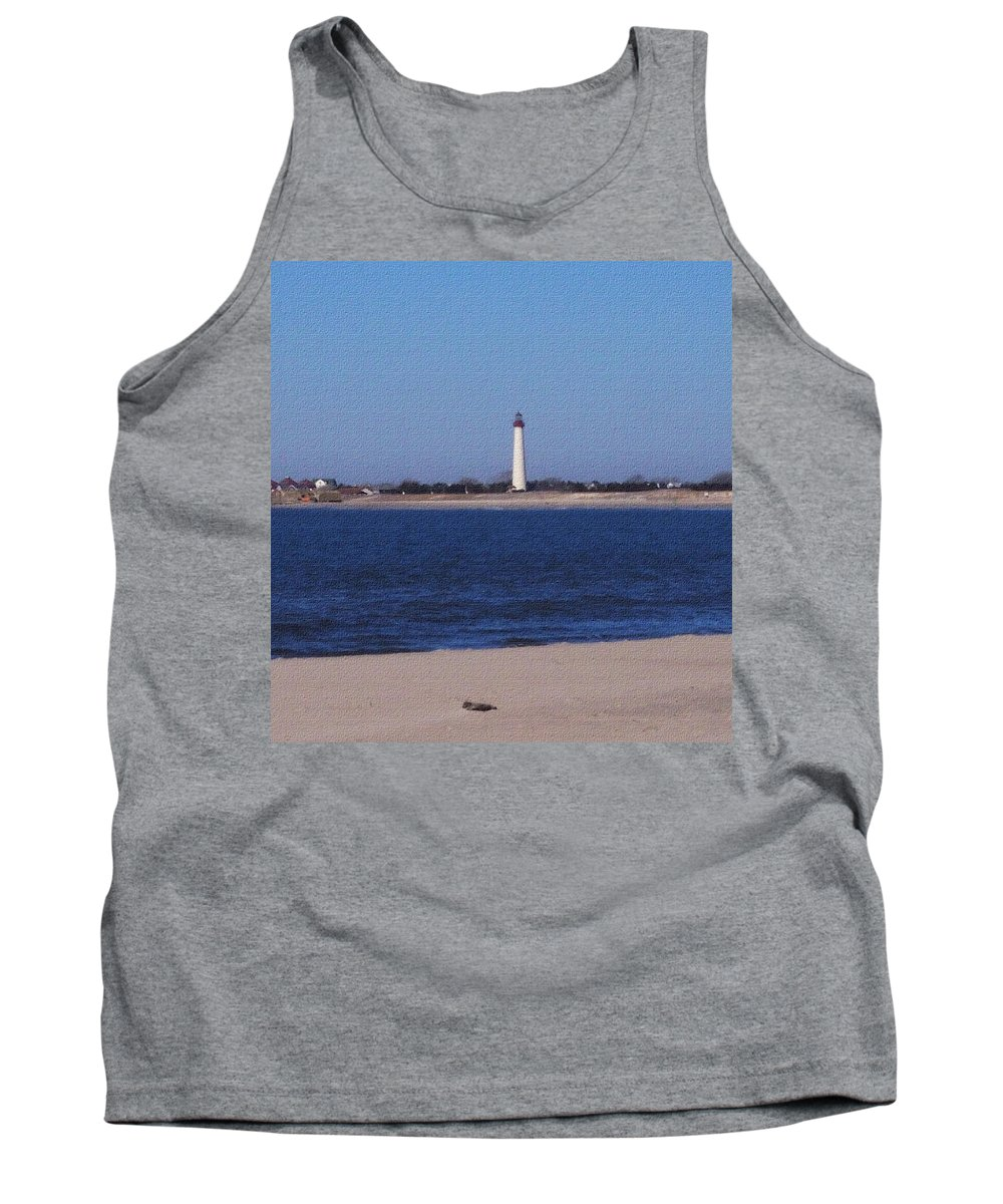 Lighthouse Tank Top featuring the photograph Lighthouse At The Point by Pharris Art