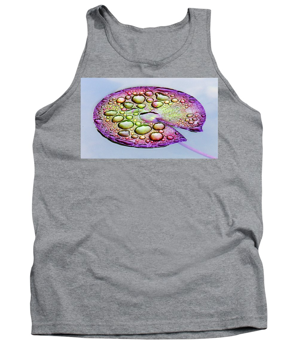 Lillypad Tank Top featuring the digital art Lillypad by Robert Meanor